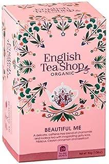 English Tea Shop Kräutertee der Schönheit mit Gotu Kola, Preiselbeeren und Rosenblättern Hergestellt in Sri Lanka Bio-Produkt - 1 x 20 Teebeutel 30 Gramm