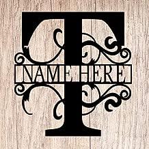 AJD Designs Personalized Last Name T Door Hanger - 20
