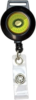 Graphics and More Kiwi Fruit Lanyard Retractable Reel Badge ID Card Holder