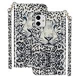 Ancase Custodia Portafoglio per Apple iPhone XR Flip Cover in Pelle aLibro 3D Modello Wallet Case Porta Carte per Donna Ragazza Uomo - Leopardo