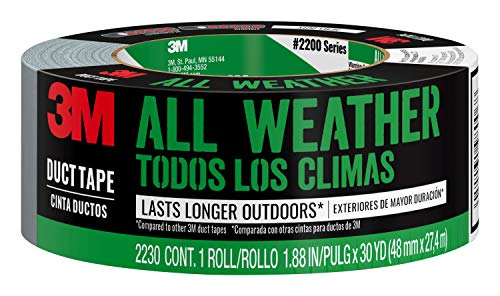 3M All Weather Duct Tape, 1.88 inches by 30 yards, 2230-HD, 1 roll