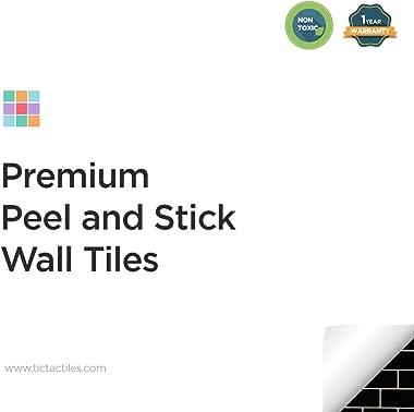 "Tic Tac Tiles 10-Sheet 12""x 12"" Peel and Stick Self Adhesive Removable Stick On Kitchen Backsplash Bathroom 3D Wall Sticker W"