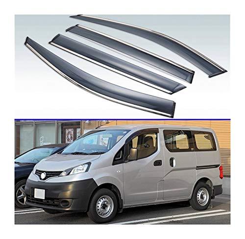 LWLD Derivabrisas para Nissan NV200 2009-2019 4pcs Visores De Ventanas De Plástico De Plástico Rain Sun Visor Shield Cove Accessories Hxjh Cortavientos ventanilla Coche