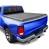 Tyger Auto T1 Soft Roll Up Truck Bed Tonneau Cover Compatible with 2002-2018 Dodge Ram 1500 | 2019-2021 Ram 1500 Classic Only | Fleetside 6'4' Bed (76') | without RamBox | TG-BC1D9014 , Black