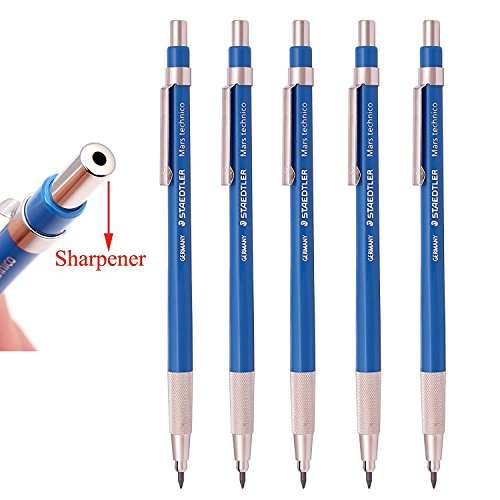 Staedtler Mars Technico 780C Mechanical Lead holder,clutch Pencil for Draft Drawing, Art Sketching Sharpener (Pack of 5)