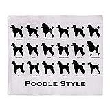 CafePress Poodle Styles: Black Throw Blanket Soft Fleece Throw Blanket, 50'x60' Stadium Blanket