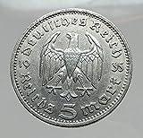 1935 DE 1935 Germany 2nd President Paul von Hindenburg AR coin Good