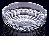 SUTECO Clear Glass Ashtray Creative Personality Large Cigarette Ash Container Home Living Room Office Cafe Hotel Smoking Accessories