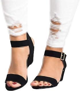 Padaleks Women's Ankle Strap Pumps Sandals Open Toe Casual Platform Wedge High Heels Sandal Dress Shoes