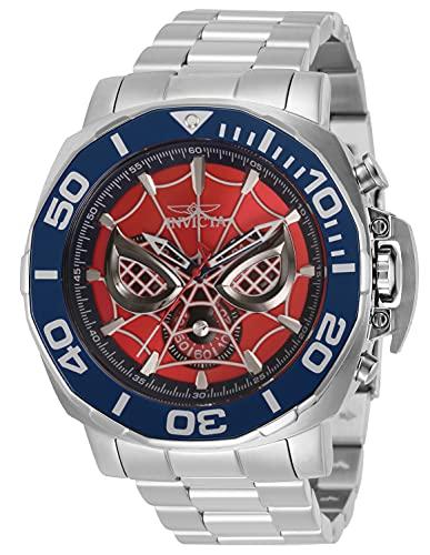 Invicta Marvel - Spiderman 35096 rosso Orologio Uomo Quarzo - 48mm