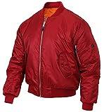 Rothco MA-1 Flight Jacket, Red, M