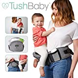 TushBaby The Only Safety Certified Hip Seat Baby Carrier - As Seen On Shark Tank, Ergonomic Waist Carrier for...