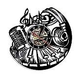 Wangzhongjie Reloj De Pared Musical Rock and Roll Arte De Pared Reloj De Registro De...