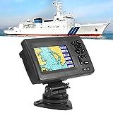 Denkerm Navigatore GPS Marino, Navigatore GPS per Barca Marina con Display LCD da 5 Pollici, 800 X 480P, Sistema di Navigazione Marina Impermeabile con Transponder AIS di Classe B