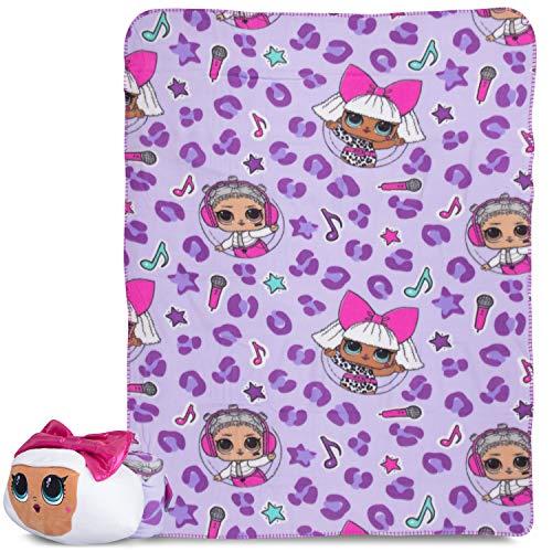 Franco Kids Bedding Super Soft Plush Throw and Hugger Pillow Set, 40