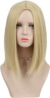 CTRLALT 14 inch Blonde Bob Wig Shoulder Length Straight Hair for Women No Bangs Trendy Synthetic Wig