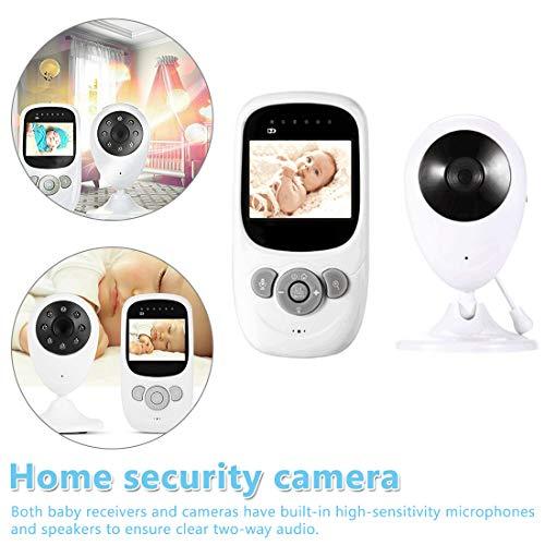 NoyoKere 1080P 2,4-Zoll-Farb-Babyphone mit Zwei-Wege-Audio-Temperaturanzeige, eingebautem Schlaflied und Nachtsicht-Unterstützung VOX Funktion Wireless Weiß