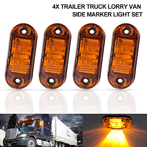MASO 2X 12V LED Truck Side Marker Light Indicator Lamp Side Marked Lamp RV Clearance Indicator, for Car Truck Trailer Lorry