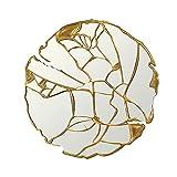 XCXDX Miroir Doré Cassé, Miroir Mural Rond Créatif pour Couloir du Porche De La Salle À Manger, Cadeaux De Pendaison De Crémaillère Exquis 80×80cm