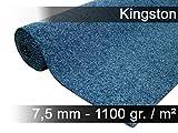 exteriortrend Komfort Kunstrasen Rasenteppich mit Noppen Kingston Blau Mix in 19 Größen