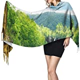 Bufanda de mantón Mujer Chales para, The Most Beautiful Nature Women 's Fashion Long Mantón Invierno Cálido Bufanda grande Bufanda de cachemira