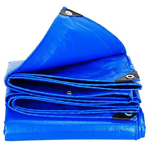 ANUO Outdoor Waterdichte Tarp Cover Met Grommets Lichtgewicht Pergola Canopy schaduw doek Tuin Camping Tent Proof Tarpaulin 24x30ft/8x10m Blauw