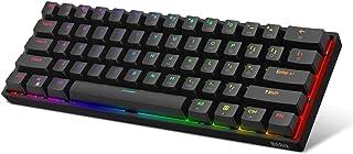 Dierya DK61E 60% Teclado mecánico para Juegos, Teclado PBT con Cable retroiluminado RGB Impermeable Tipo-C Intercambiable en Caliente Compacto 61 Teclas Teclado de computadora(Interruptor marrón)