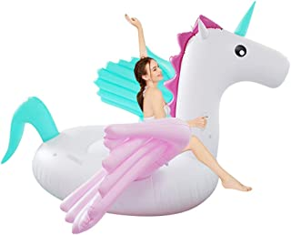 Wonderful ltd. Giant Pegasus Inflatable Pool Float, 98inX98 X 51 Pool Float Ride On, Candy Pegasus Unicorn Inflatable Island, Fun Beach Floaties, Party Toys, Summer Pool Raft Lounge for Adults & Kids