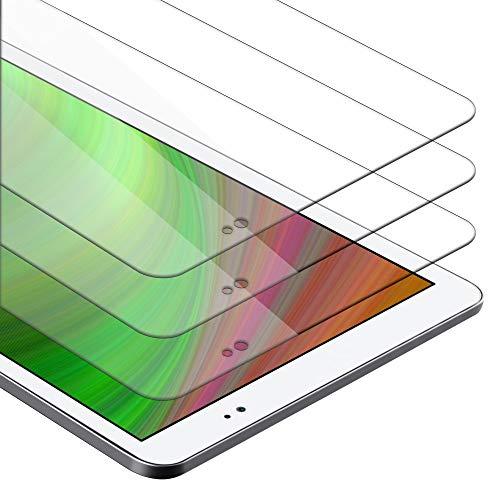Cadorabo Película de Armadura 3X Compatible con Huawei MediaPad T1 10 (10.0') - película Protectora en Transparencia ELEVADA Paquete de Vidrio Templado en dureza 9H con compatibilidad táctil 3D