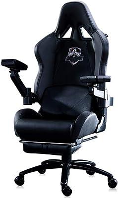 E-スポーツビデオゲームチェア、人間工学に基づいて設計ハイバックレーシングスタイルスイベルコンピュータゲーマー椅子、調節可能なメカニカルアーム
