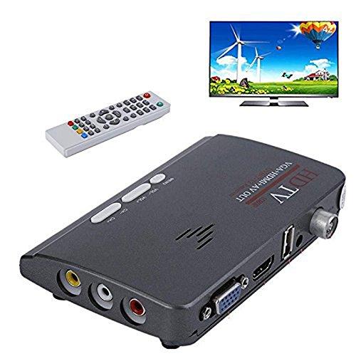 Nadalan HD 1080P VGA DVB-T / T2 AV alla custodia TV VGA con soporte HDMI MPEG4 VGA HDMI: Amazon.es: Electrónica