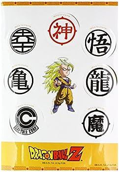 Dragonball Z Stickers SS3 Goku & Symbols Set Anime Stickers