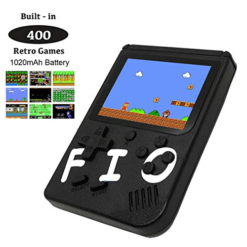 Handheld Retro Games Console, Portable Mini Pocket Gameboy with 400 NES Games, 3 Inch Colour Screen, 1020mAh Rechargeable Battery, Support TV Output, Birthday Gift for Men Women Kids Boy Girl
