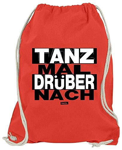 HARIZ Turnbeutel Tanz Mal Drüber Nach Sprüche Schwarz Weiß Plus Geschenkkarte Rot One Size