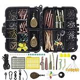 BNTTEAM 252pcs Kit d'accessoires de pêche, hameçons, flotteurs, pivots de pêche, mousquetons,...