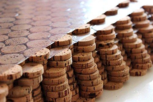 Suelo de corcho con mosaico, azulejos de pared de 60 cm x 30 cm, grosor de 6 mm, macizo, para interiores y exteriores, zonas húmedas, baños, terrazas, piscinas, caminos (1)