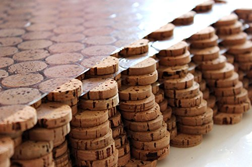 Korkboden Kork Mosaik Fliesen Bodenbelag Wandbelag 60 cm x 30 cm Stärke 6mm massiv/In- und Outdoor/Feuchträume/Bäder/Terrassen/Schwimmbäder/Wege (1)