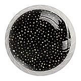 Perillas de cristal con diseño de lunares dorados, para armario, armario, oficina, armario