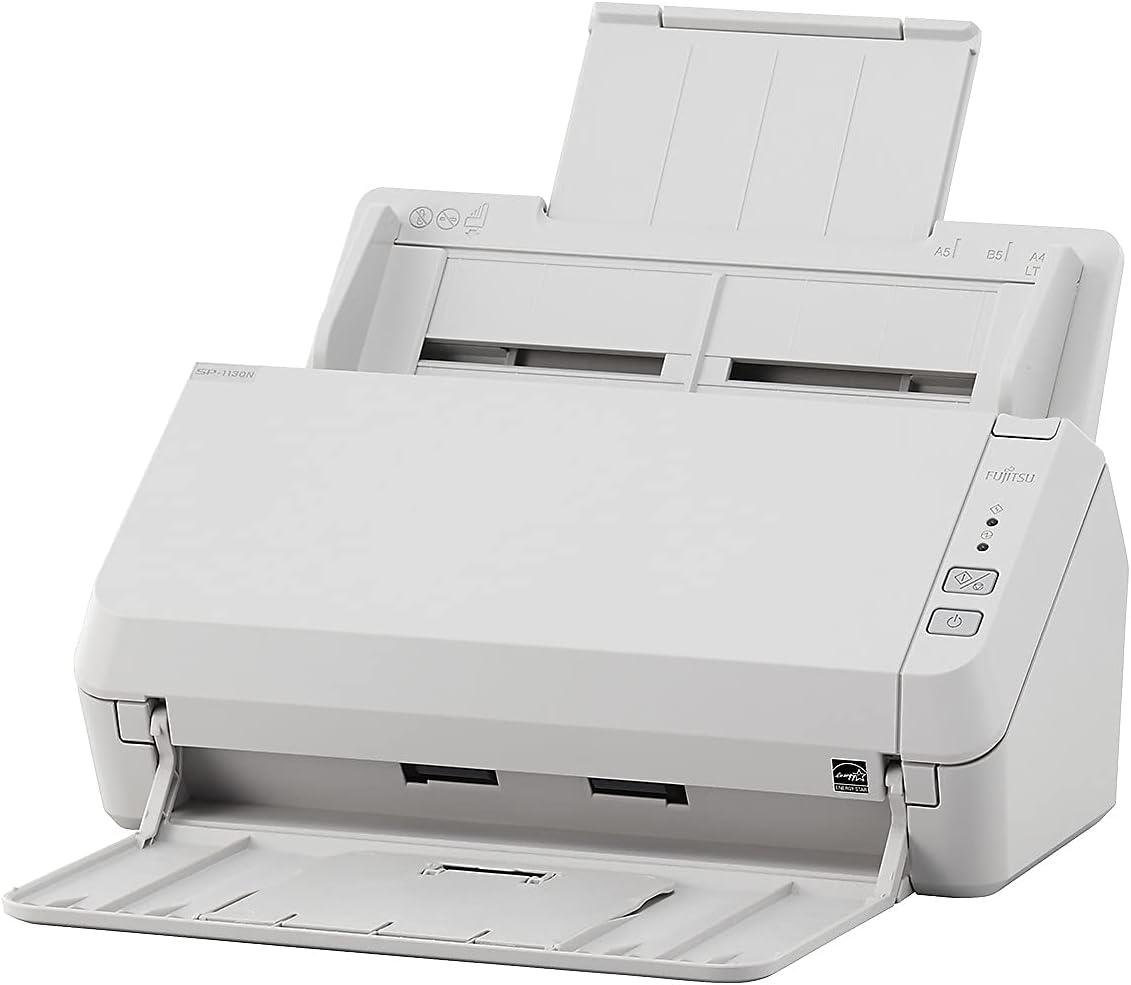 Fujitsu ImageScanner SP-1130N Sheetfed Scanner - 600 dpi Optical - 24-bit Color - 8-bit Grayscale - 30 ppm (Mono) - 30 ppm (Color) - Duplex Scanning - USB