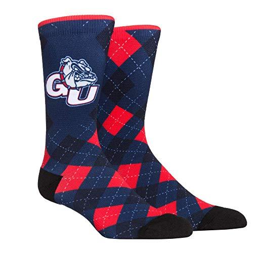 Super Premium College Fan Argyle Socks (L-XL, Gonzaga Bulldogs - Argyle)