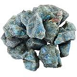 mookaitedecor Piedras de labradorita, piedras preciosas minerales para familia/oficina/jardín/acuario, decoración de cristal, reiki y curación (460 g)