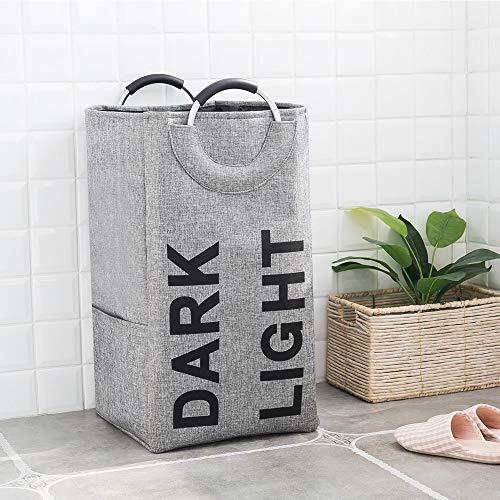 Cesto para la Colada Paño de lavandería Cesto Clasificador cesta compartimiento 2...