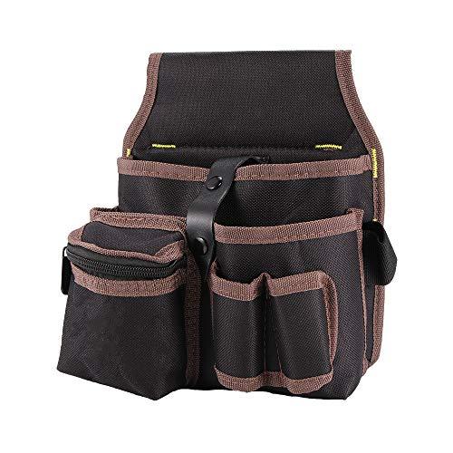 ShangSky Pocket Pouch Belt Bolsa de Herramientas de Bolsillo Pequeño con Cinturón de Nailon Ajustable Cintura Profesional Bolsa de Trabajo para Electricistas Técnico