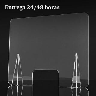 Mampara de metacrilato transparente. 65 x 50 cm. Varios tamaños. Envío 24 horas.