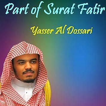 Part of Surat Fatir (Quran)