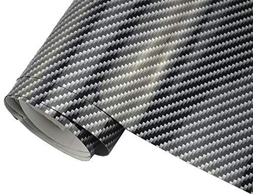4,9€/m² 2D Carbon Folie Auto Folie SCHWARZ 2D glanz 200 x 152 cm blasenfrei selbstklebend