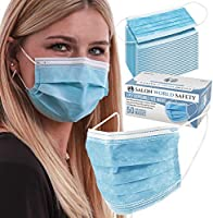 TCP Global Salon World Safety - Sealed Dispenser Box of 50 Face Masks Breathable Disposable 3-Ply Protective PPE with...