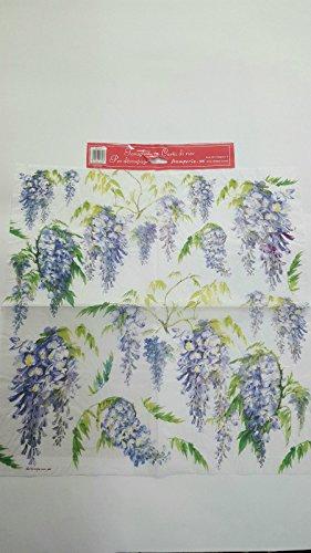 Tovagliolo in carta di riso 50×50 cm 14g Decoupage DFT170 Fiori