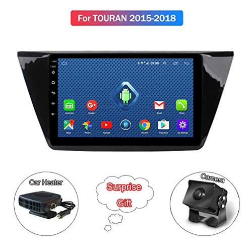 XMZWD 10 Zoll Satelliten Autoradio GPS Navigation Android 8.1 Auto DVD Radio Multimedia Player, Für Volkswagen Touran 2015-2018 Unterstützung WiFi/USB (Enthalten Kamera/Auto Heizung)
