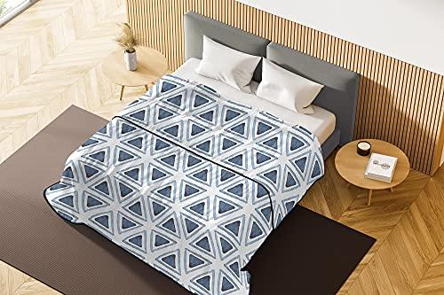 Basic Couette d'été, Microfibre, Triangles, pour lit Double